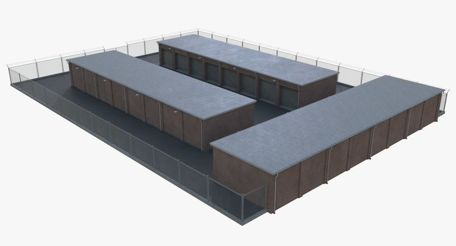 Storage Facility 1 royalty-free 3d model - Preview no. 5