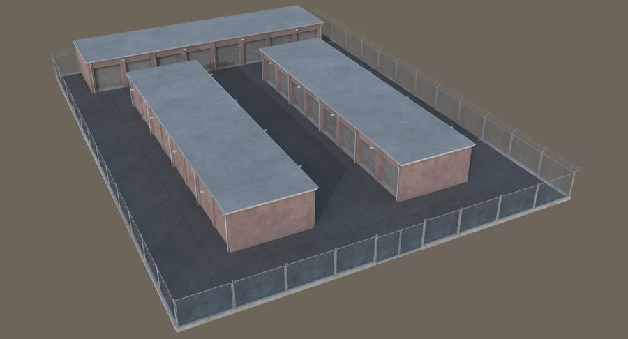 Storage Facility 1 royalty-free 3d model - Preview no. 3