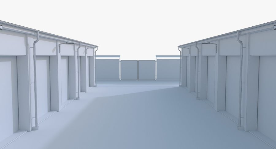 Storage Facility 1 royalty-free 3d model - Preview no. 23