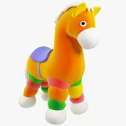 毛绒玩具马 3d model