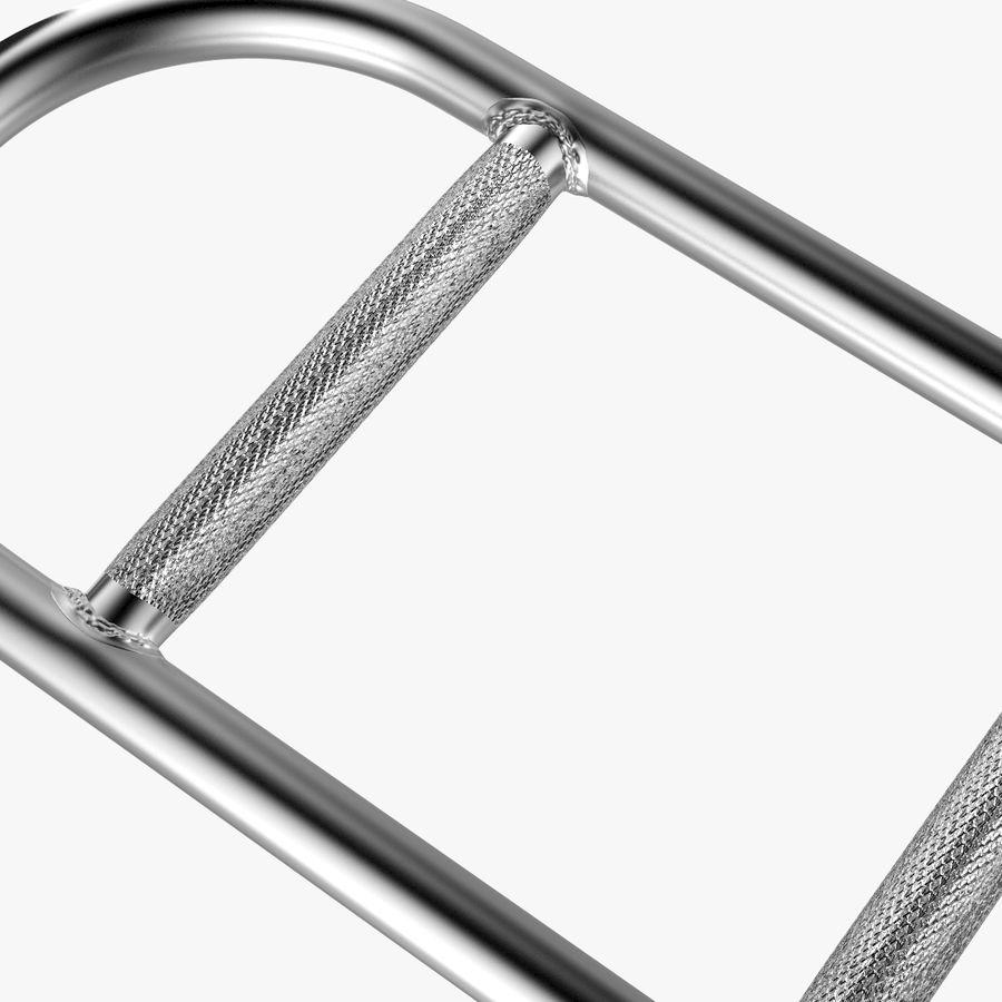Olimpijska sztanga sztangowa z 2 kołnierzami sprężynowymi royalty-free 3d model - Preview no. 5
