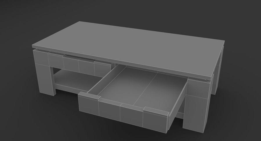 木制咖啡桌 royalty-free 3d model - Preview no. 9