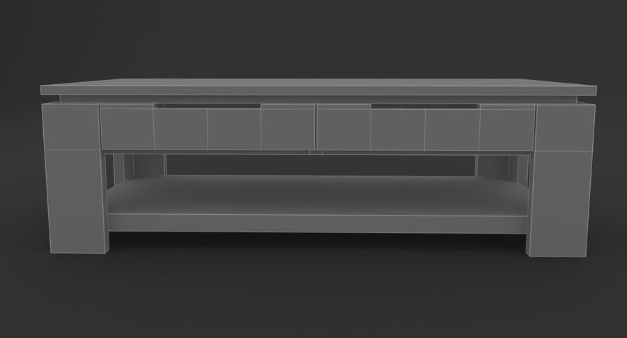 木制咖啡桌 royalty-free 3d model - Preview no. 11
