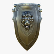 Kite Shield A Steel (Textured) 3d model