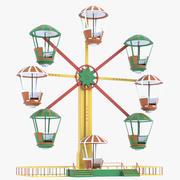 Roda-gigante para o parque de diversões 3d model