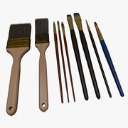 Paint Brush Set 3d model