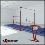 Barres asymétriques de gymnastique 3d model