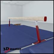 平衡木 3d model