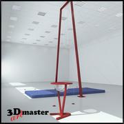 Anneaux de gymnastique 3d model