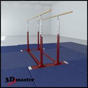 Barres parallèles de gymnastique 3d model
