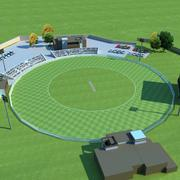 Cricket ground open 3d model