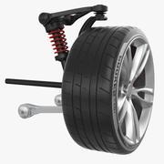 Tekerlekli Ön Ön Süspansiyon 3d model