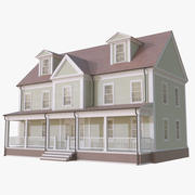 Colonial House 14 3d model