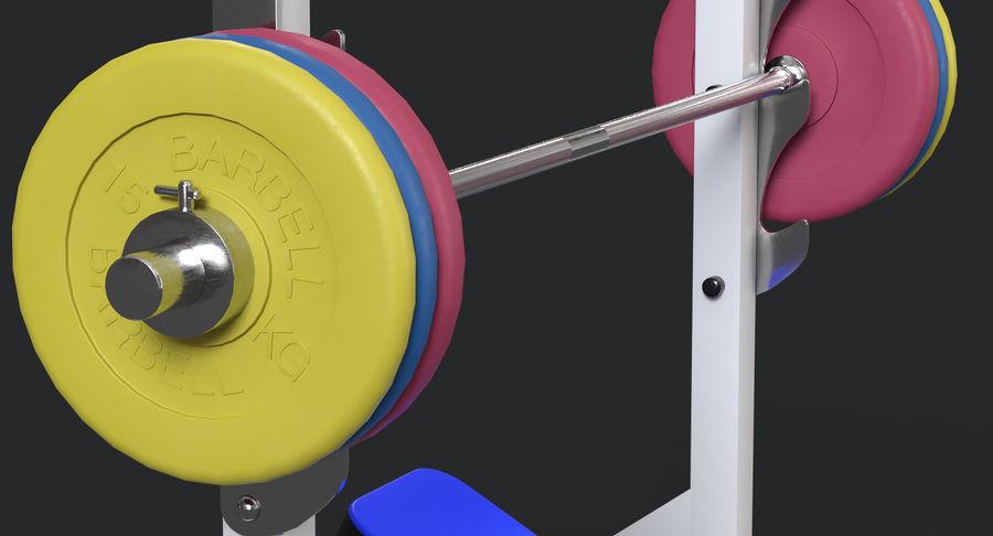 Ławka olimpijska royalty-free 3d model - Preview no. 7