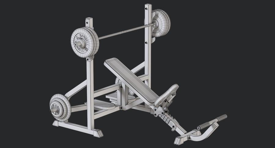Ławka olimpijska royalty-free 3d model - Preview no. 9