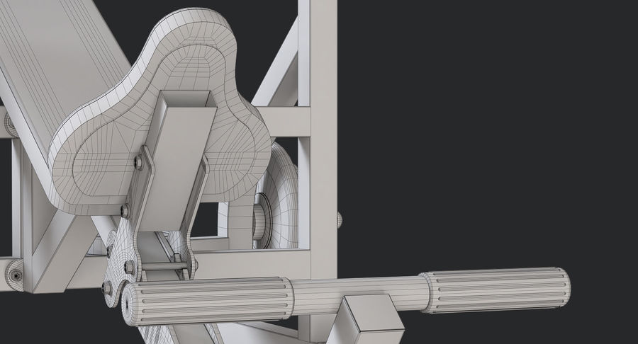 Ławka olimpijska royalty-free 3d model - Preview no. 10