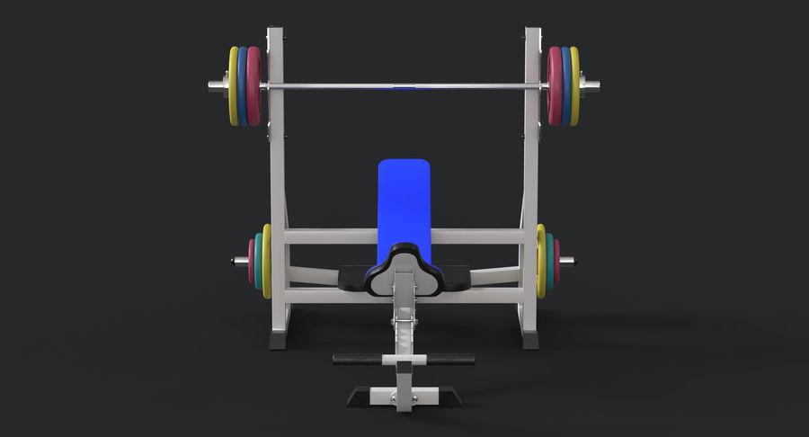 Ławka olimpijska royalty-free 3d model - Preview no. 4
