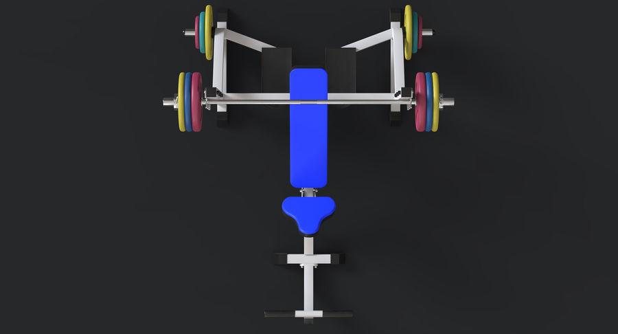 Ławka olimpijska royalty-free 3d model - Preview no. 8