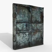 Drzwi zardzewiałe v1 (Gameready - Photoscan) 3d model