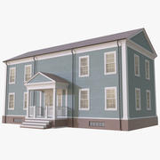 Colonial House 1 3d model