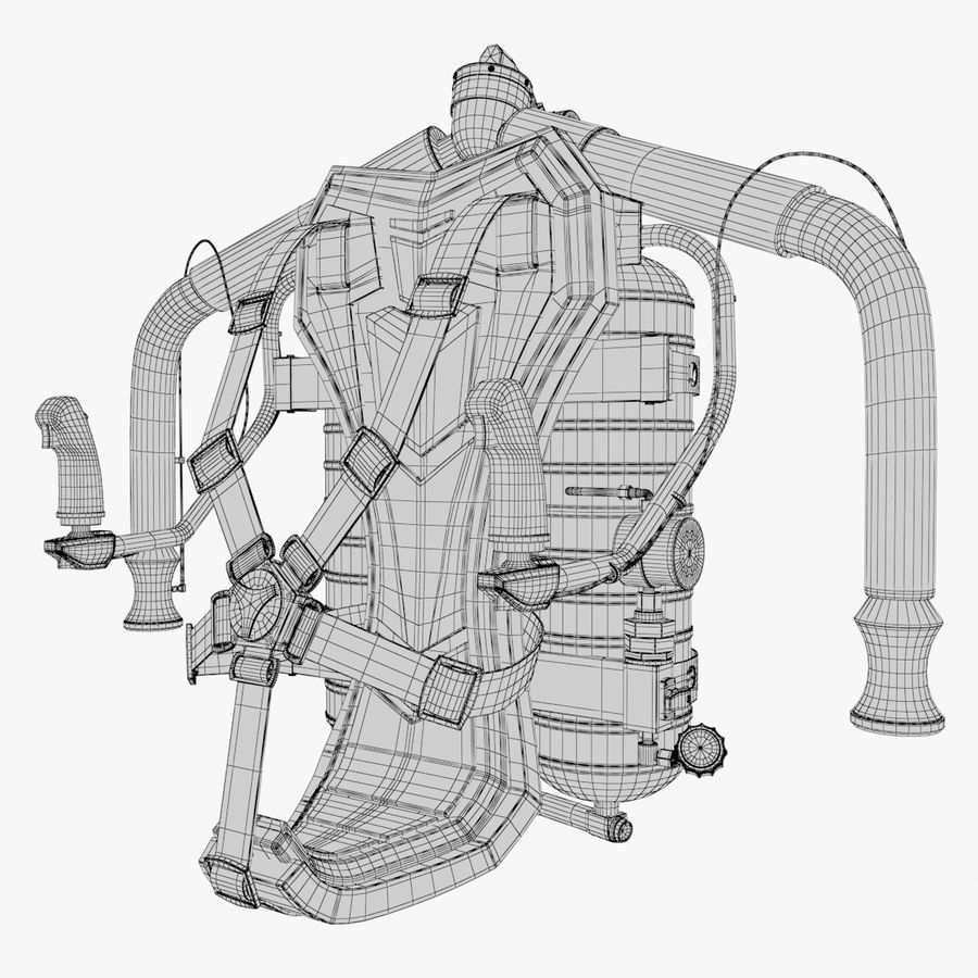 Jet Pack 02 royalty-free 3d model - Preview no. 9