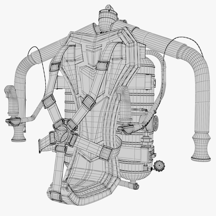 Jet Pack 02 royalty-free 3d model - Preview no. 14