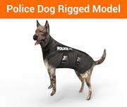 chien de berger allemand de police truqué 3d model
