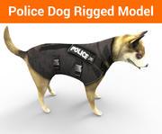 полицейская немецкая овчарка 3d model