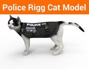 Model policyjny Cat z osprzętem 3d model