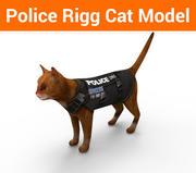modèle de chat de police 3d model