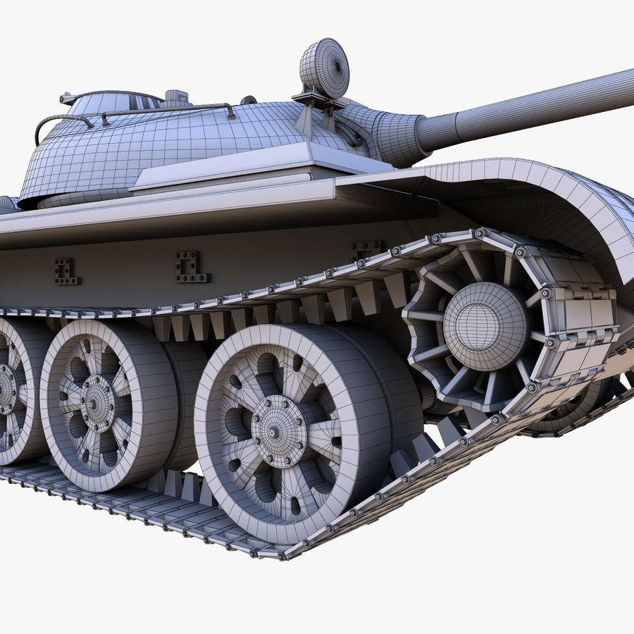 T55 Tank royalty-free 3d model - Preview no. 23