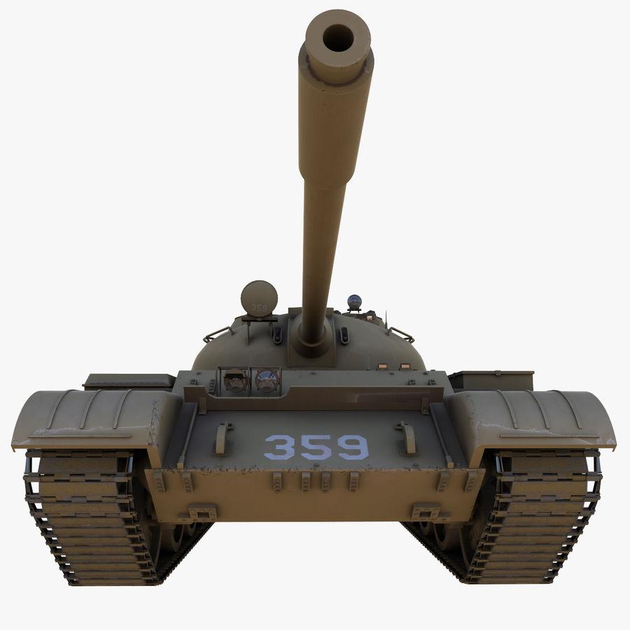 T55 Tank royalty-free 3d model - Preview no. 12