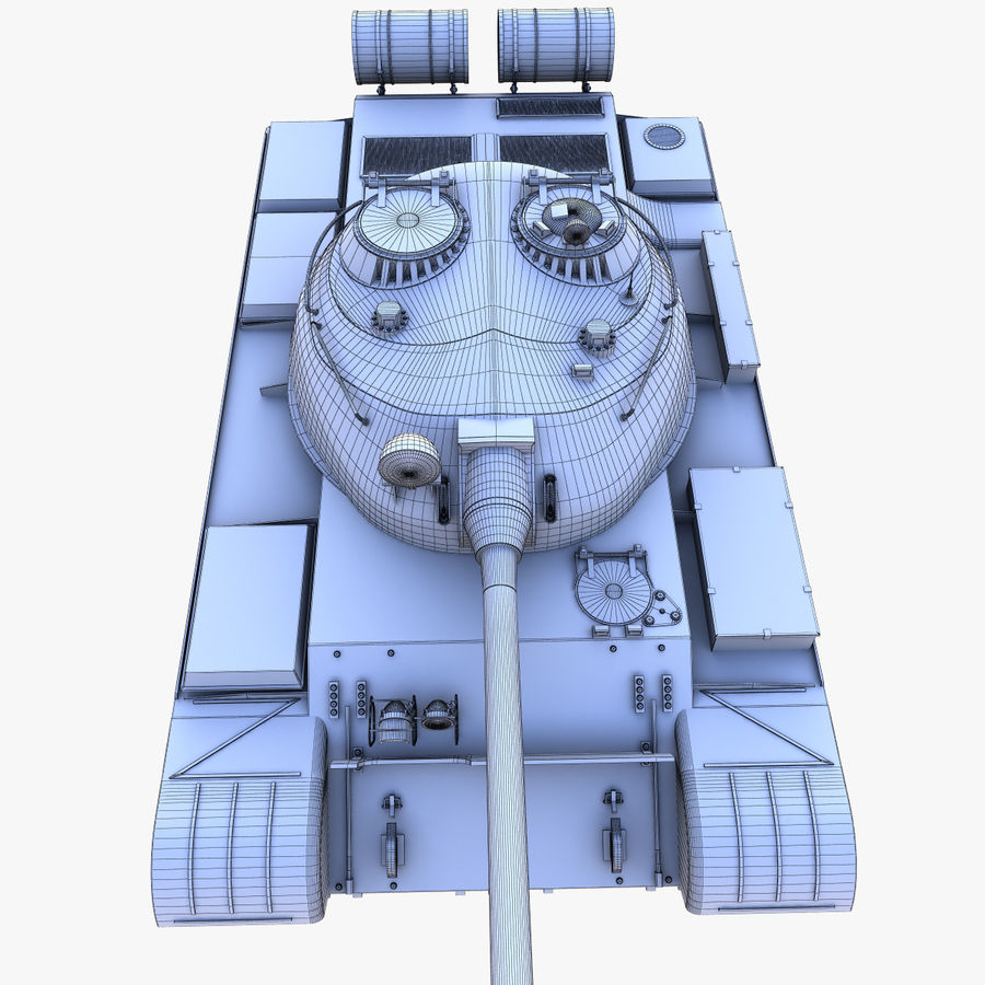 T55 Tank royalty-free 3d model - Preview no. 25