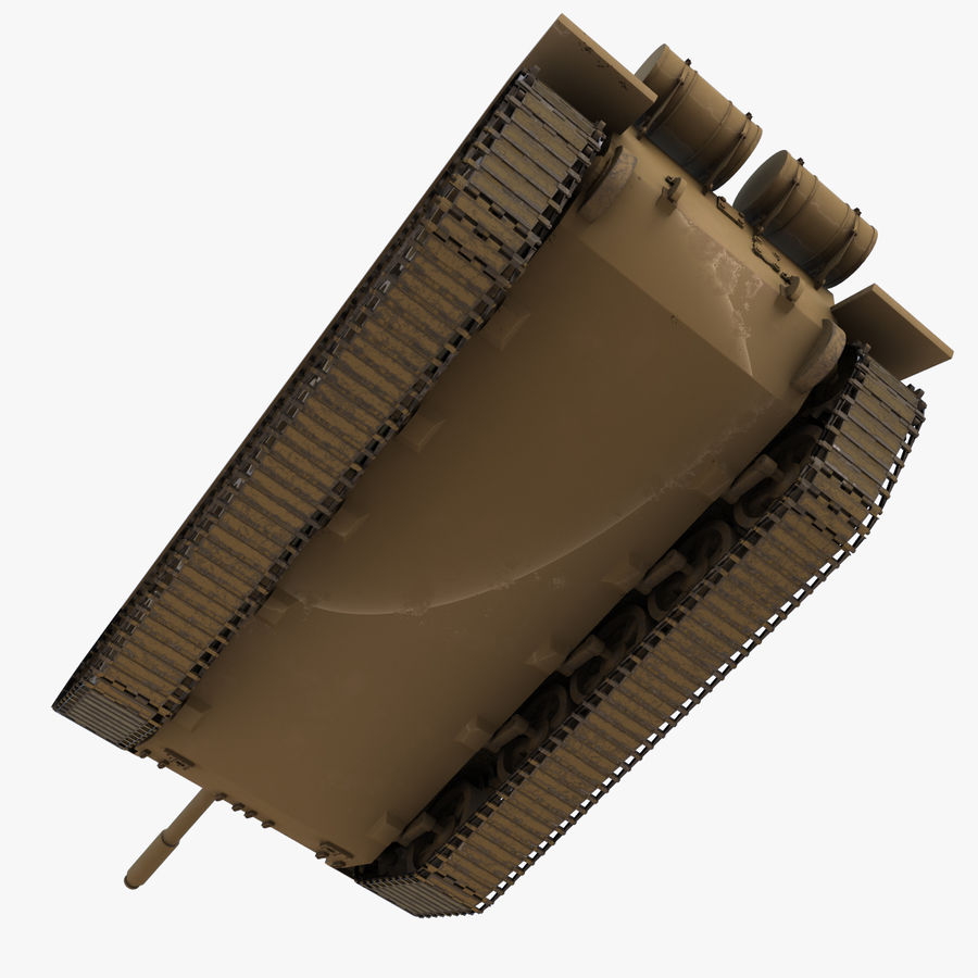 T55 Tank royalty-free 3d model - Preview no. 16