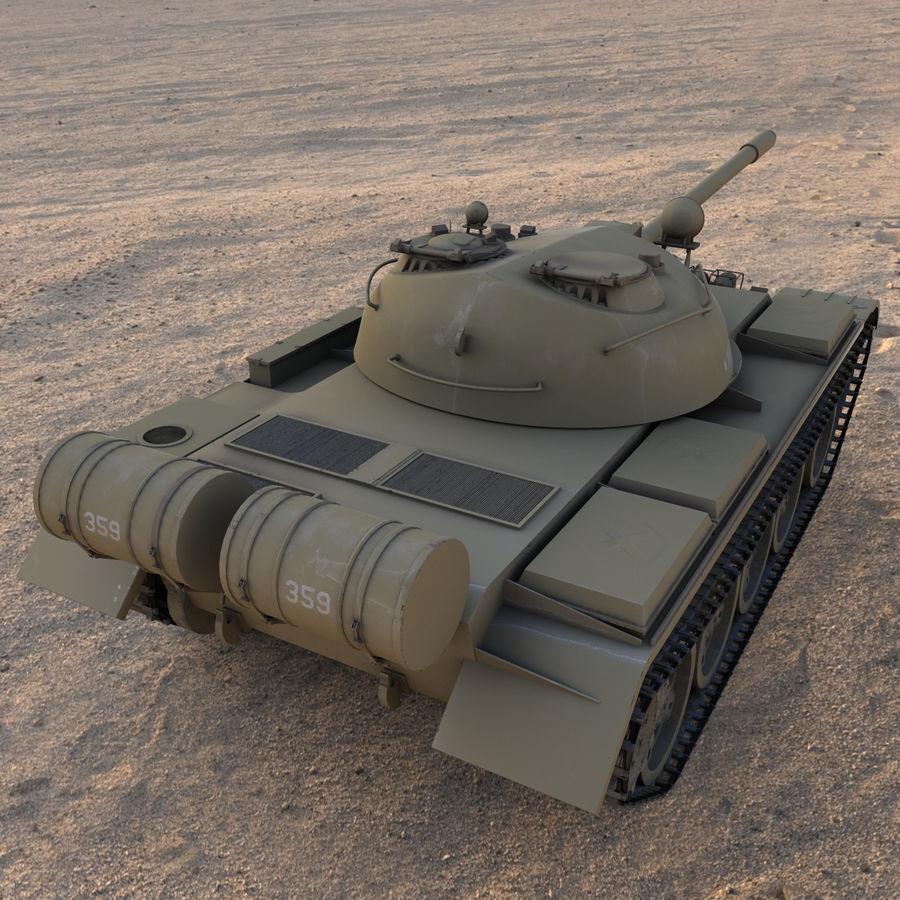 T55 Tank royalty-free 3d model - Preview no. 4
