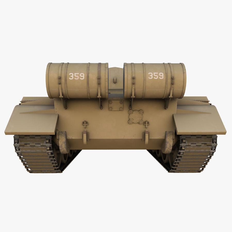 T55 Tank royalty-free 3d model - Preview no. 10