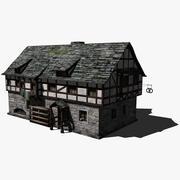 Boulangerie médiévale 3d model