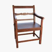 Fotel z drewna 3d model