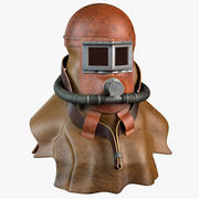 Antique Smoke Rescue Mask 3d model