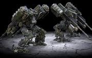 Guerra do robô M-01 3d model