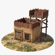 Casa con plataforma modelo 3d