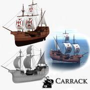 Carrack Sailing Ship 3d model