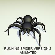 Animated Running Black Spider Version 2 3d model