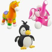 Ensemble de jouets en peluche V2 3d model