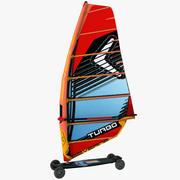 Planche à voile de montagne 3d model