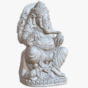 Sculptuur Ganesha Big 1M Raw Scan 3d model