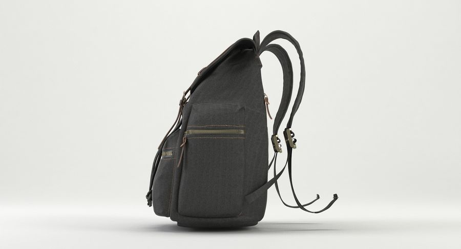 Backpack royalty-free 3d model - Preview no. 9
