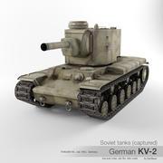 Captured Soviet tank KV-2 3d model