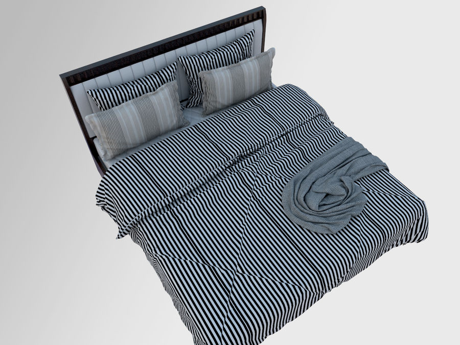 Zebra Bed royalty-free 3d model - Preview no. 2