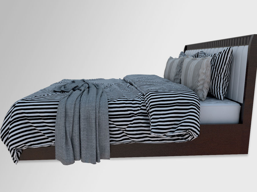 Zebra Bed royalty-free 3d model - Preview no. 4